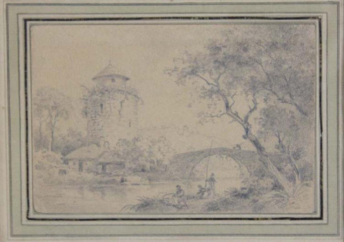 Dutch 17 Century Landscape Pencil Drawing - 2