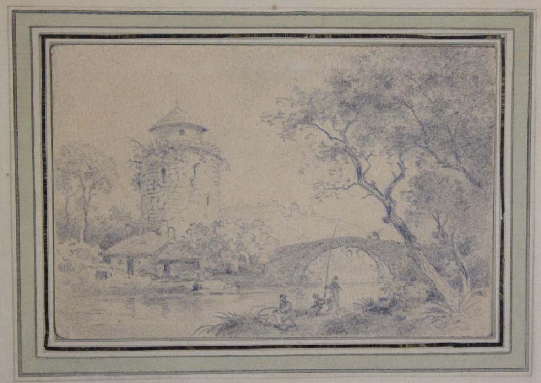 Dutch 17 Century Landscape Pencil Drawing - 3