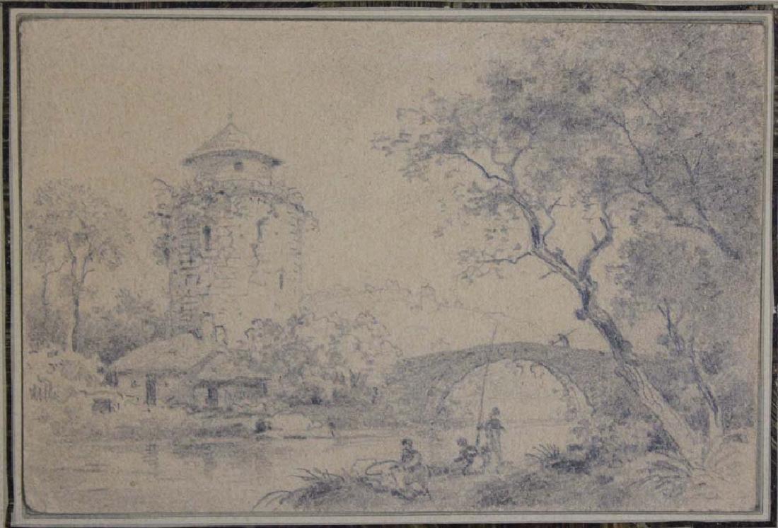 Dutch 17 Century Landscape Pencil Drawing - 4