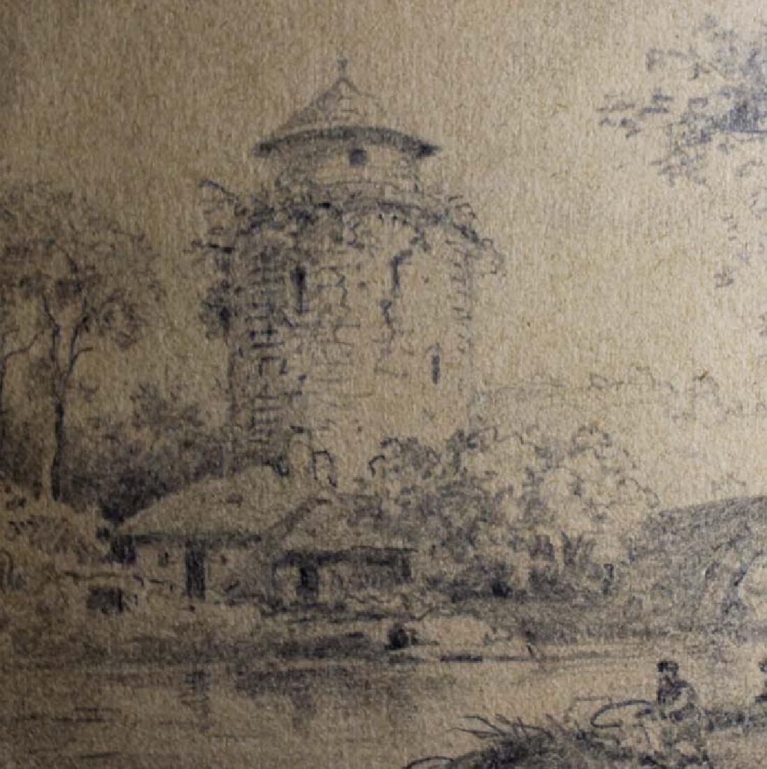 Dutch 17 Century Landscape Pencil Drawing - 5