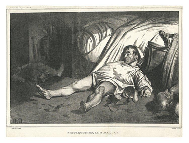 HONORE DAUMIER  Rue Transnonain, le 15,4,1834 LD 135