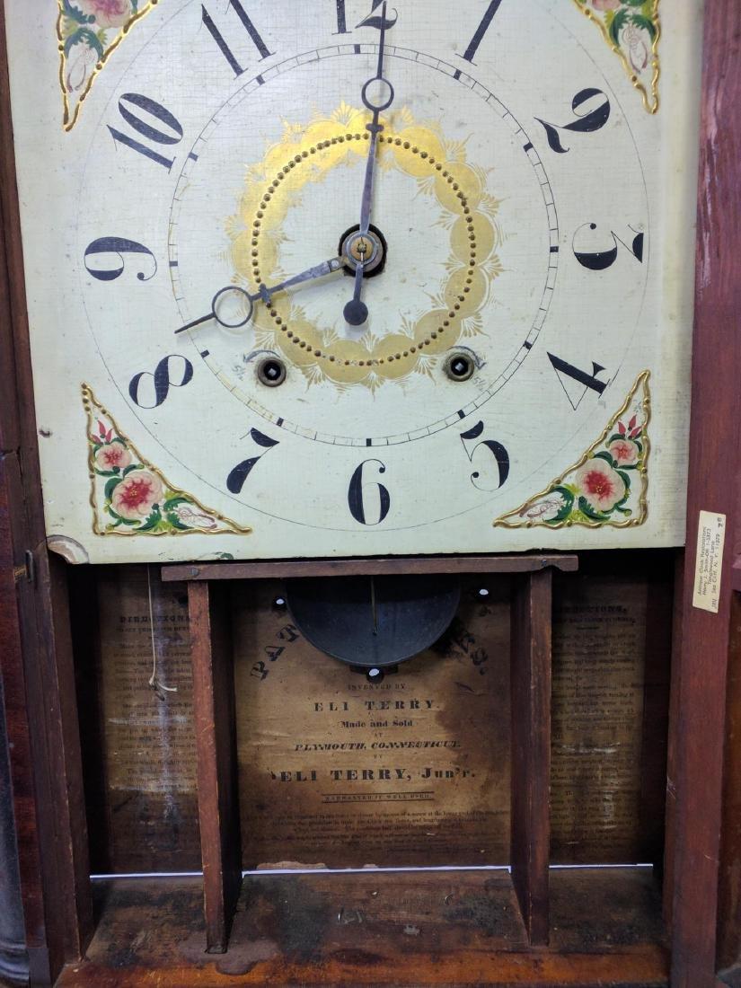 CIRCA 1825 ELI TERRY JR., A CARVED MAHOGANY SHELF CLOCK - 4