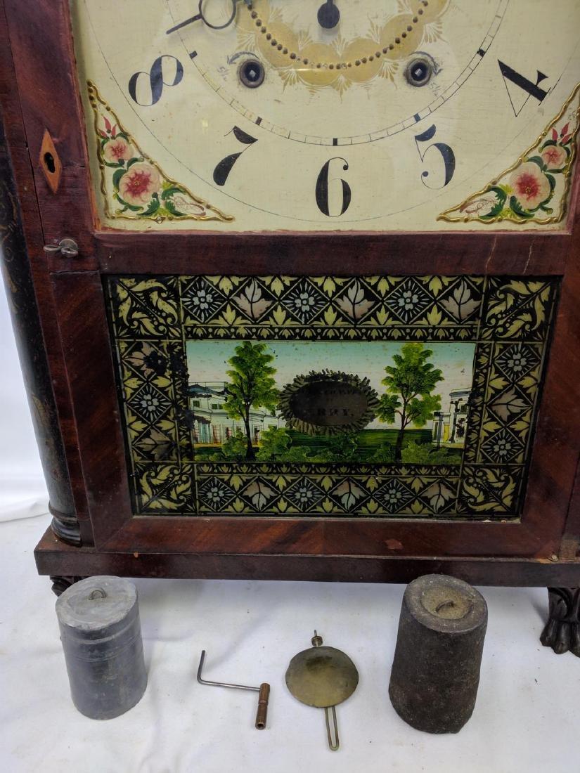 CIRCA 1825 ELI TERRY JR., A CARVED MAHOGANY SHELF CLOCK - 5