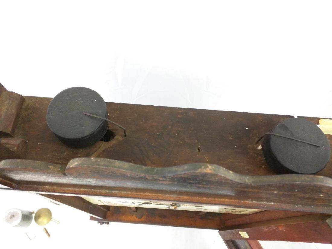 CIRCA 1825 ELI TERRY JR., A CARVED MAHOGANY SHELF CLOCK - 6