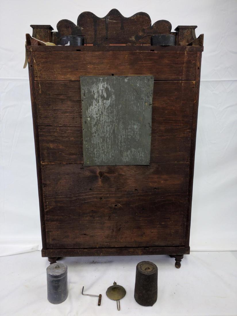 CIRCA 1825 ELI TERRY JR., A CARVED MAHOGANY SHELF CLOCK - 7