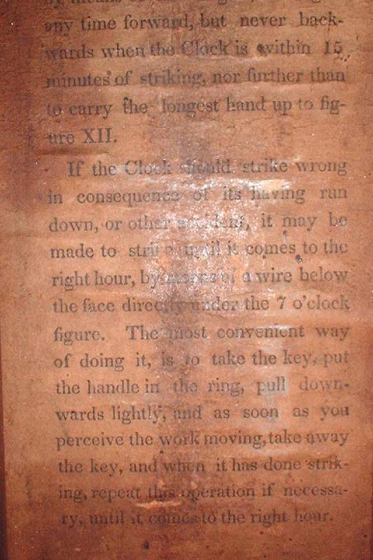 CIRCA 1825 ELI TERRY JR., A CARVED MAHOGANY SHELF CLOCK - 8