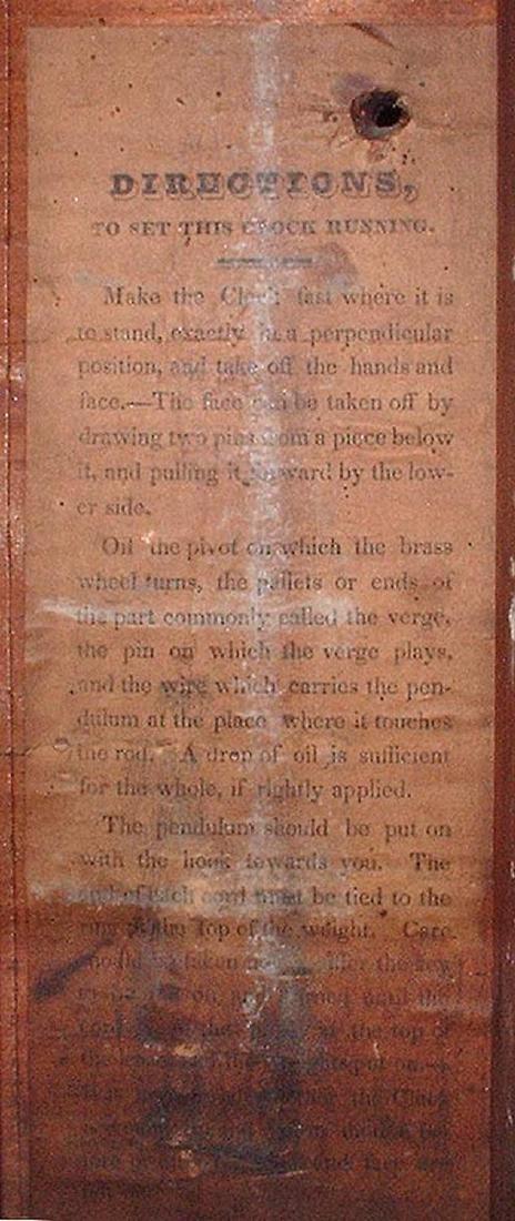 CIRCA 1825 ELI TERRY JR., A CARVED MAHOGANY SHELF CLOCK - 9