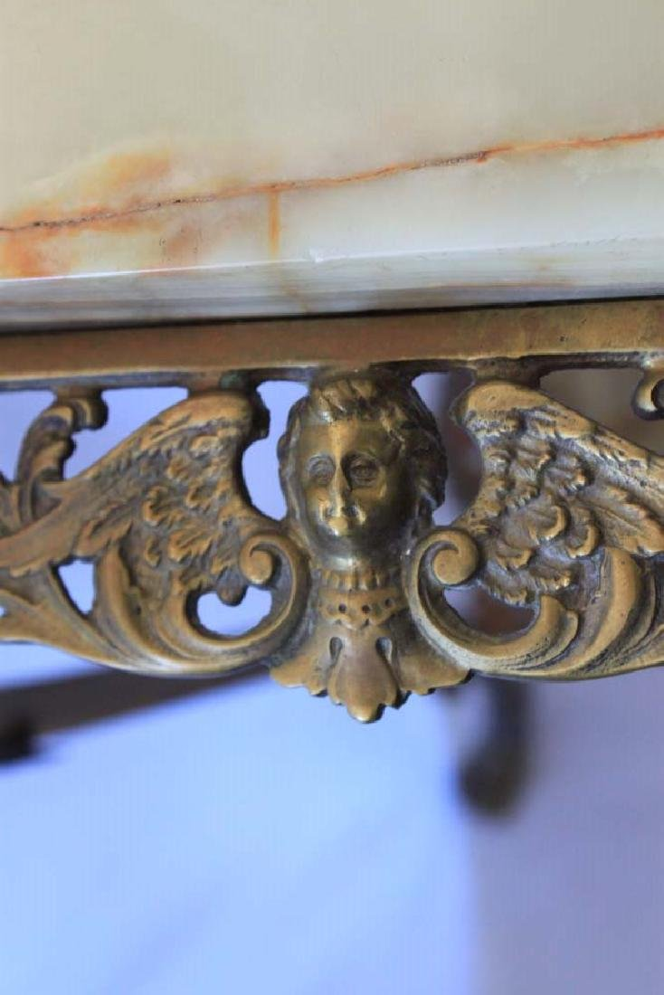 Victorian Brass and Onyx Plant Stand (Pedestal) - 4
