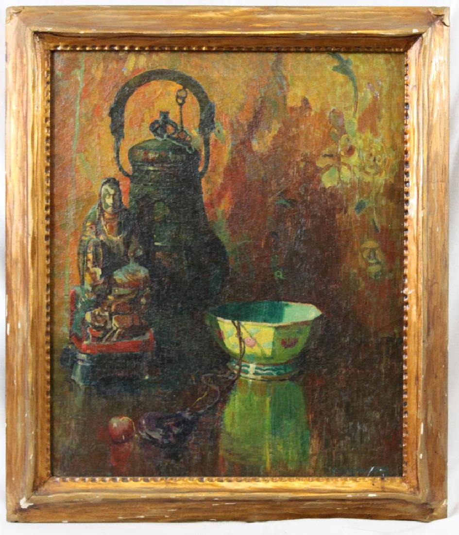 American Oil On Canvas Painting By Carl Nordstrom