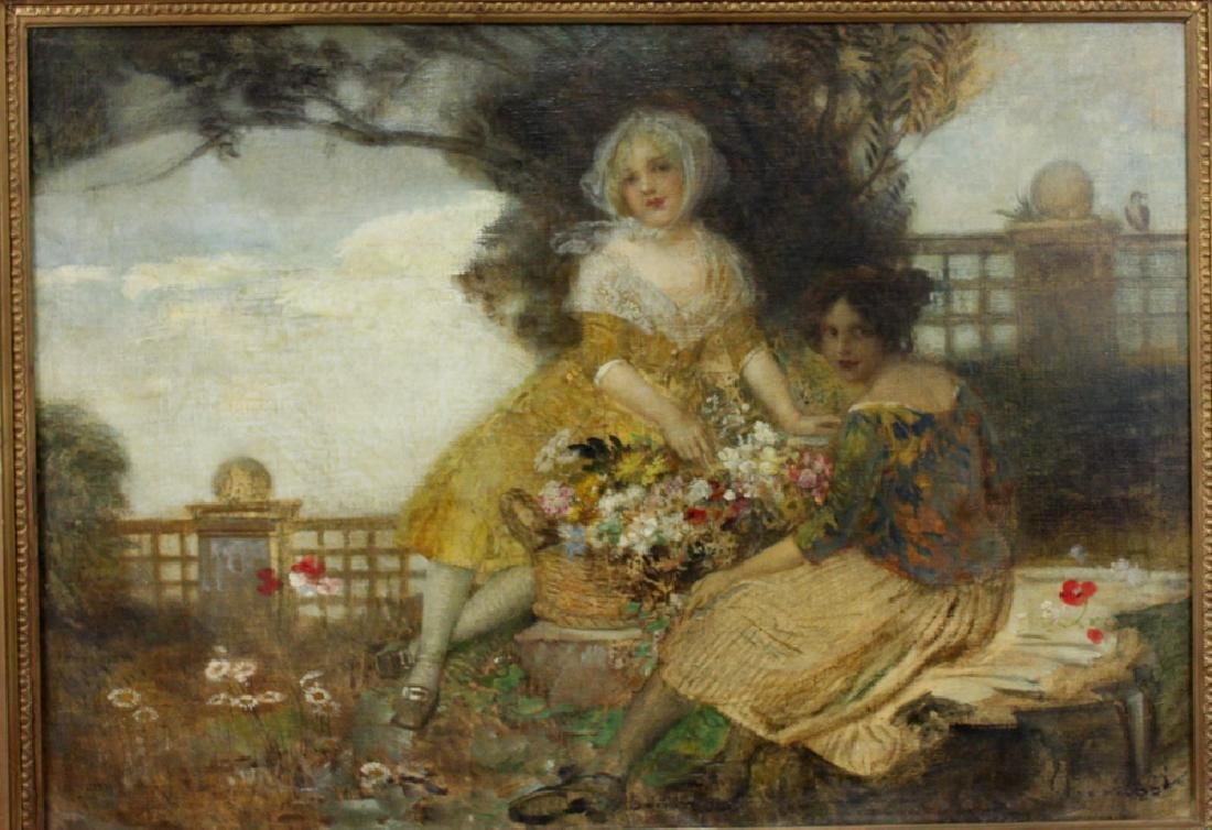19 Century Austrian Oil On Canvas Painting By Edward - 2