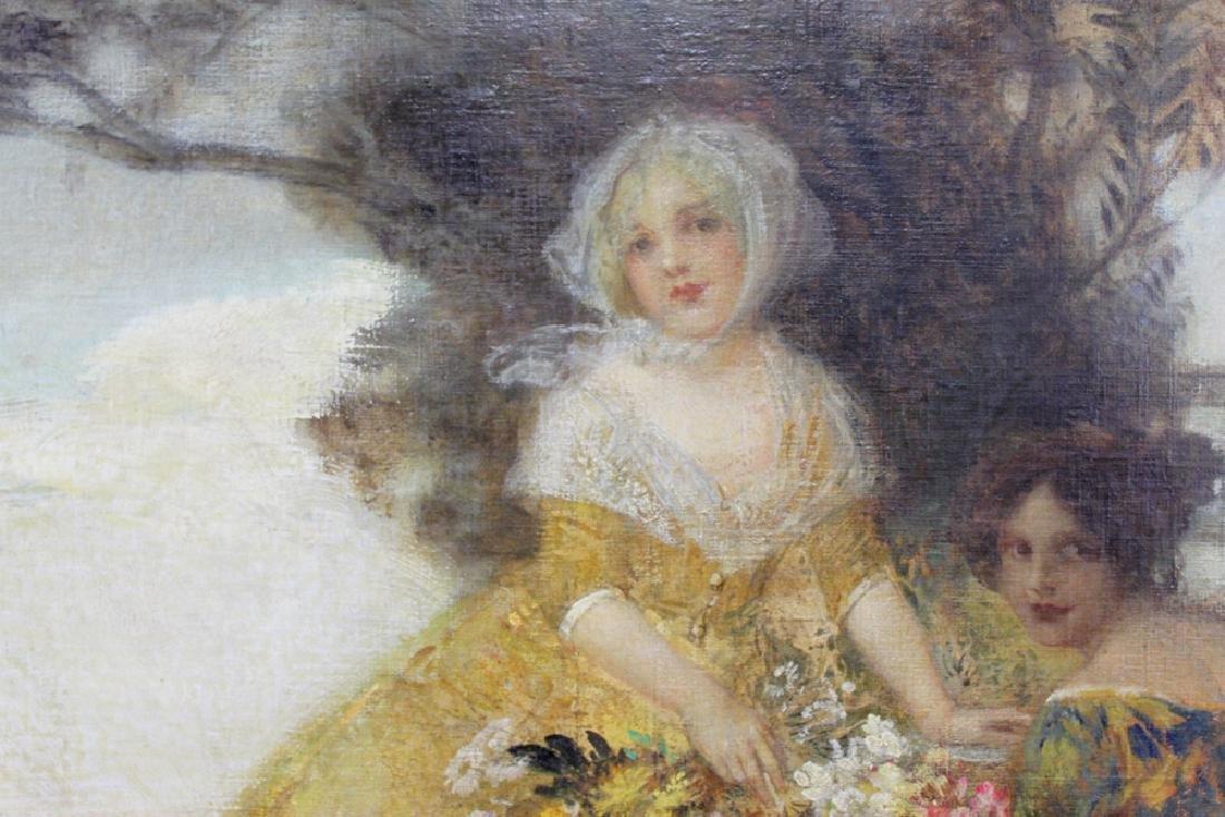 19 Century Austrian Oil On Canvas Painting By Edward - 4
