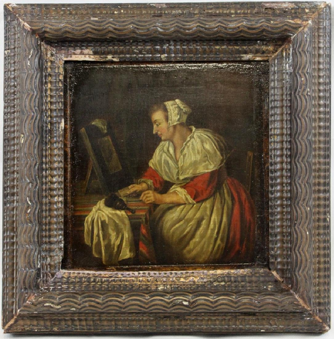 17 century Dutch oil on panel painting