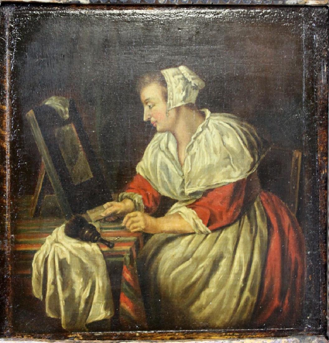 17 century Dutch oil on panel painting - 2