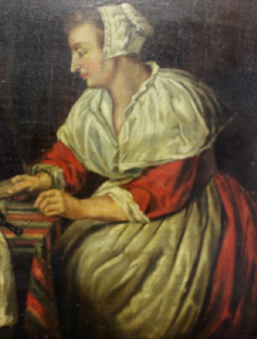 17 century Dutch oil on panel painting - 3