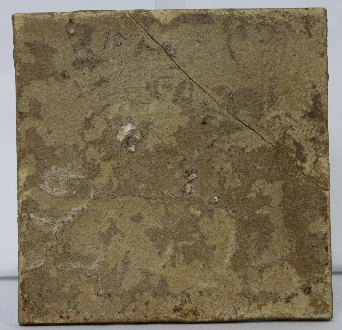 Late 17 / Early 18 Century Dutch Delft Purple Tile - 5