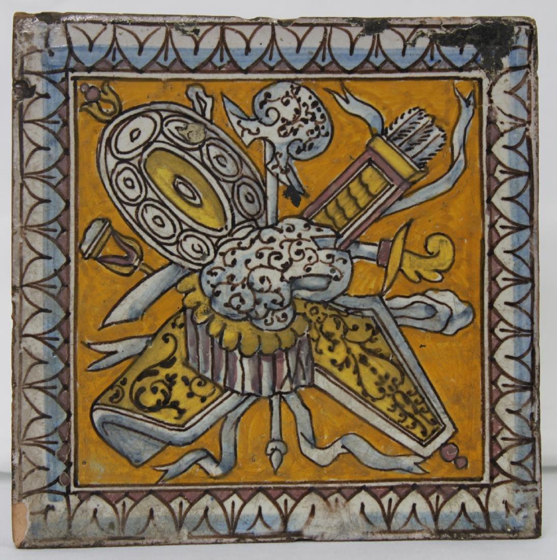 17 Century Dutch Delft Colored Tile - 3