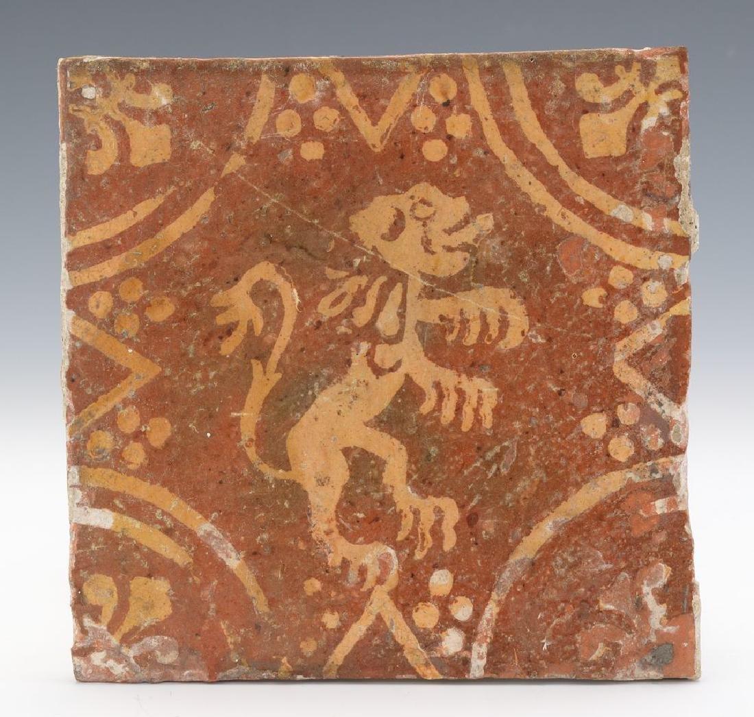 16th Century Dutch Ceramic Decorative Tile.