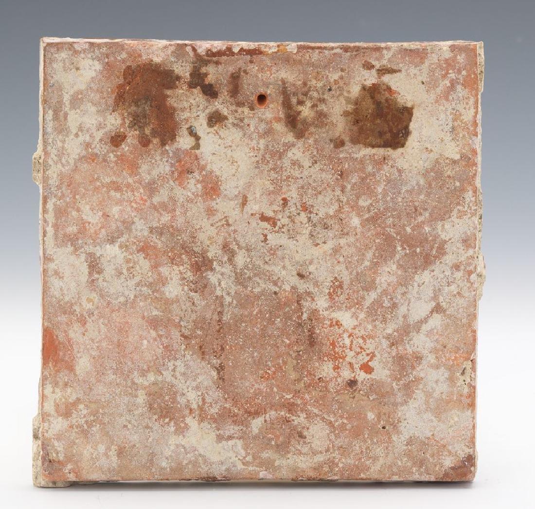 16th Century Dutch Ceramic Decorative Tile. - 3