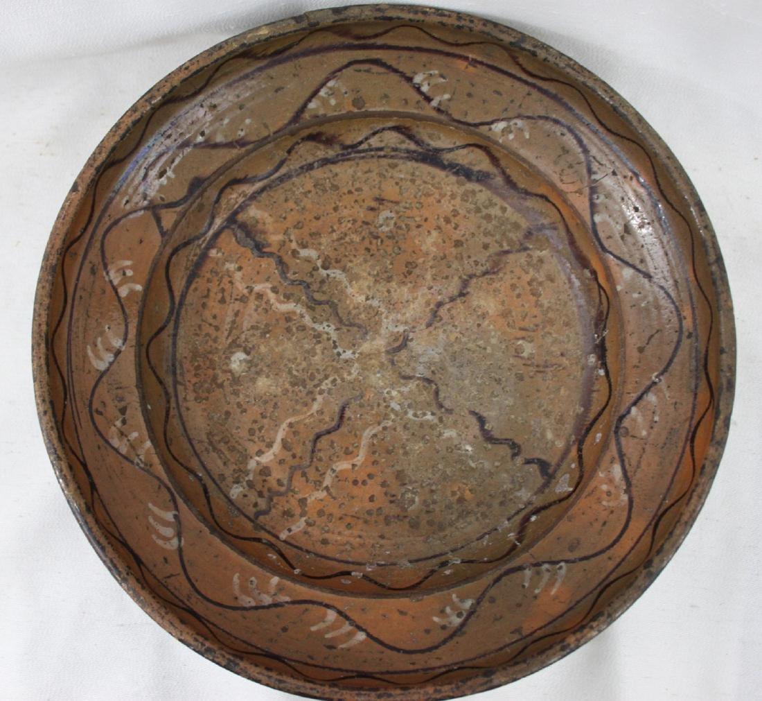 19 CENTURY AMERICAN MORAVIAN DISH