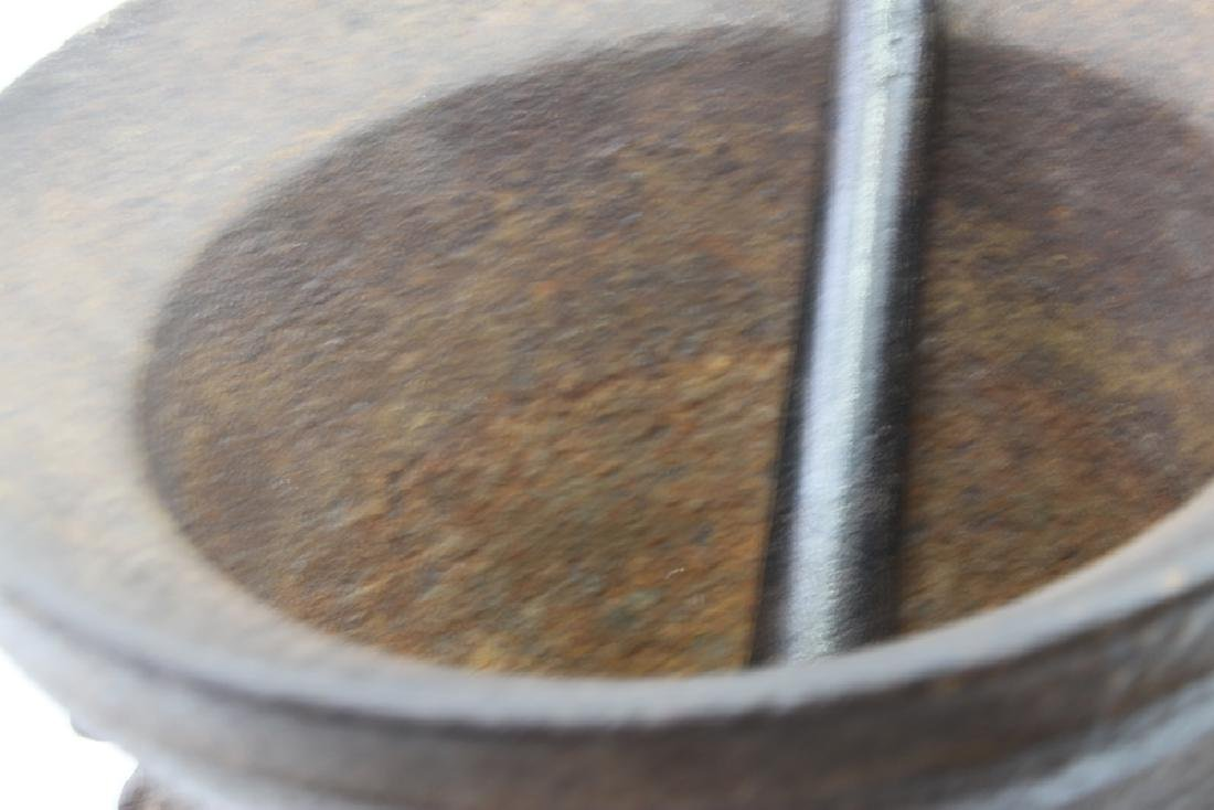 Rare and Large 16th Century Iron Mortar and Pestle - 5