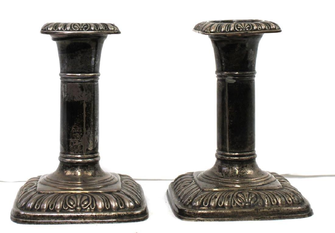 Pair 19 Century Birmingham (English) Starling Silver