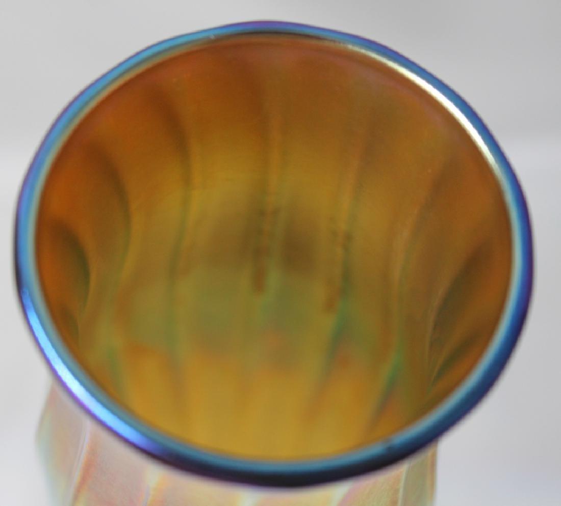 A Tiffany Furnaces Favrile Glass & Enameled Gilt Bronze - 5