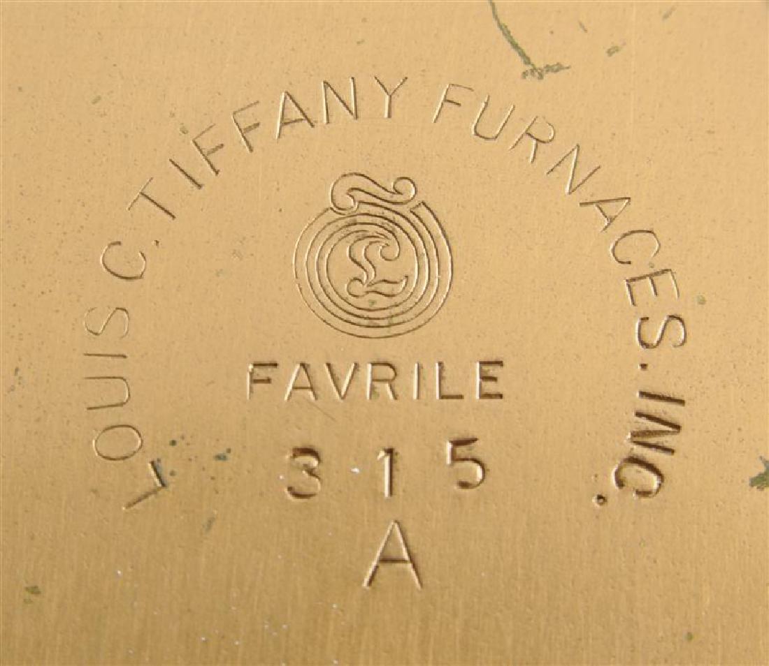 LOUIS C. TIFFANY FURNACES INC. GILT-BRONZE AND FAVRILE - 5