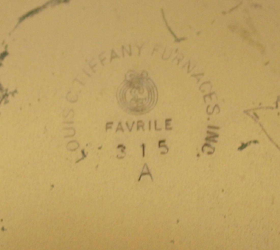 LOUIS C. TIFFANY FURNACES INC. GILT-BRONZE AND FAVRILE - 8