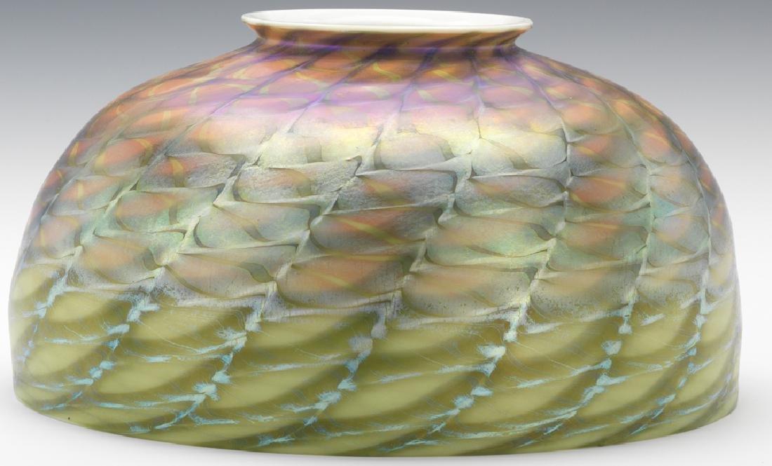 Tiffany Studios Lamp with Damascene Shade - 3