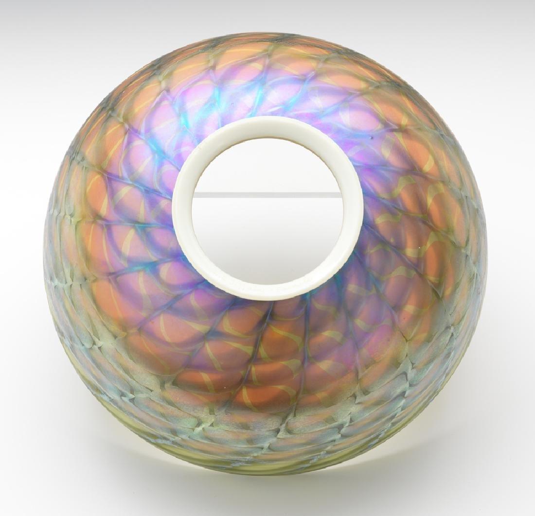 Tiffany Studios Lamp with Damascene Shade - 4