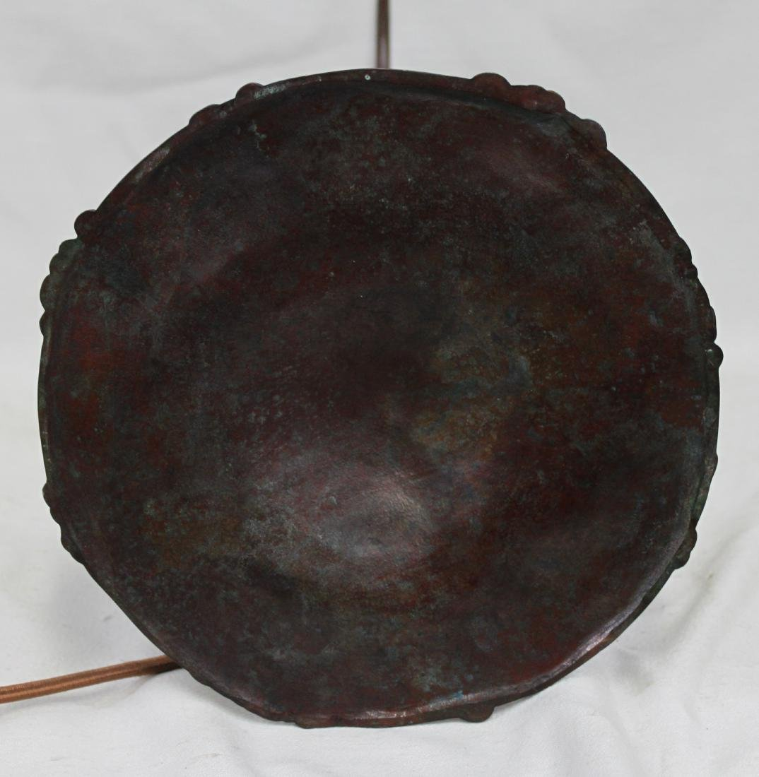 Tiffany Studios Bronze Base With Tiffany Favrile - 10