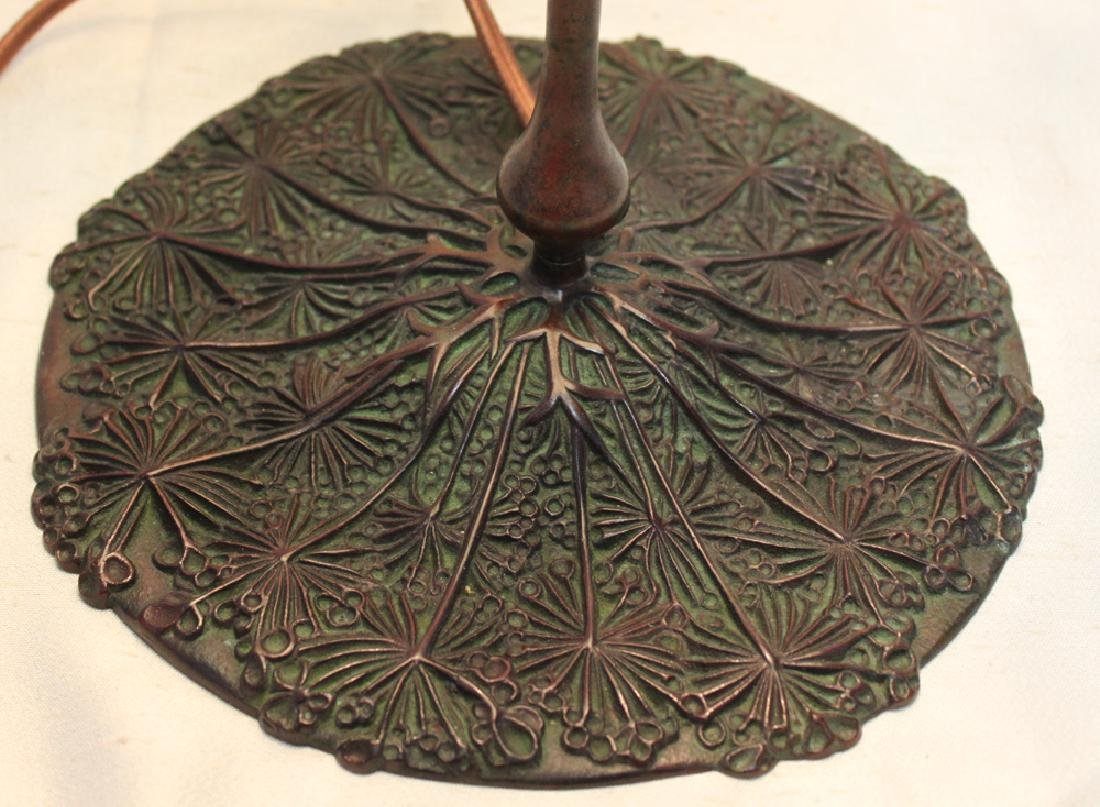 Tiffany Studios Bronze Base With Tiffany Favrile - 3