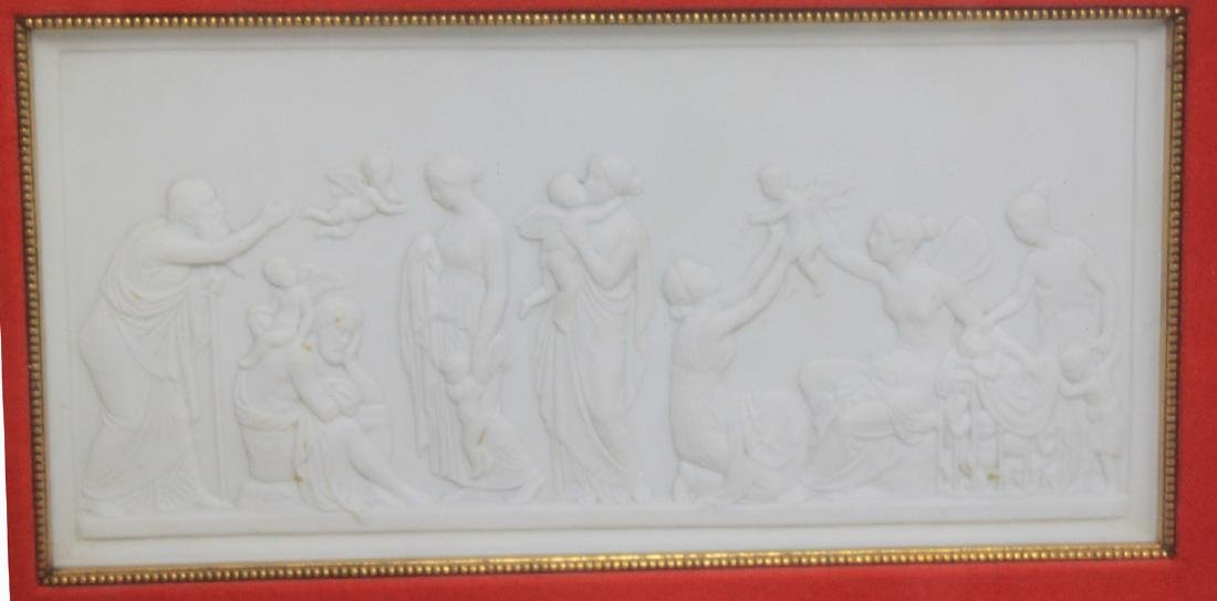 19th Century French Bisque Panel.