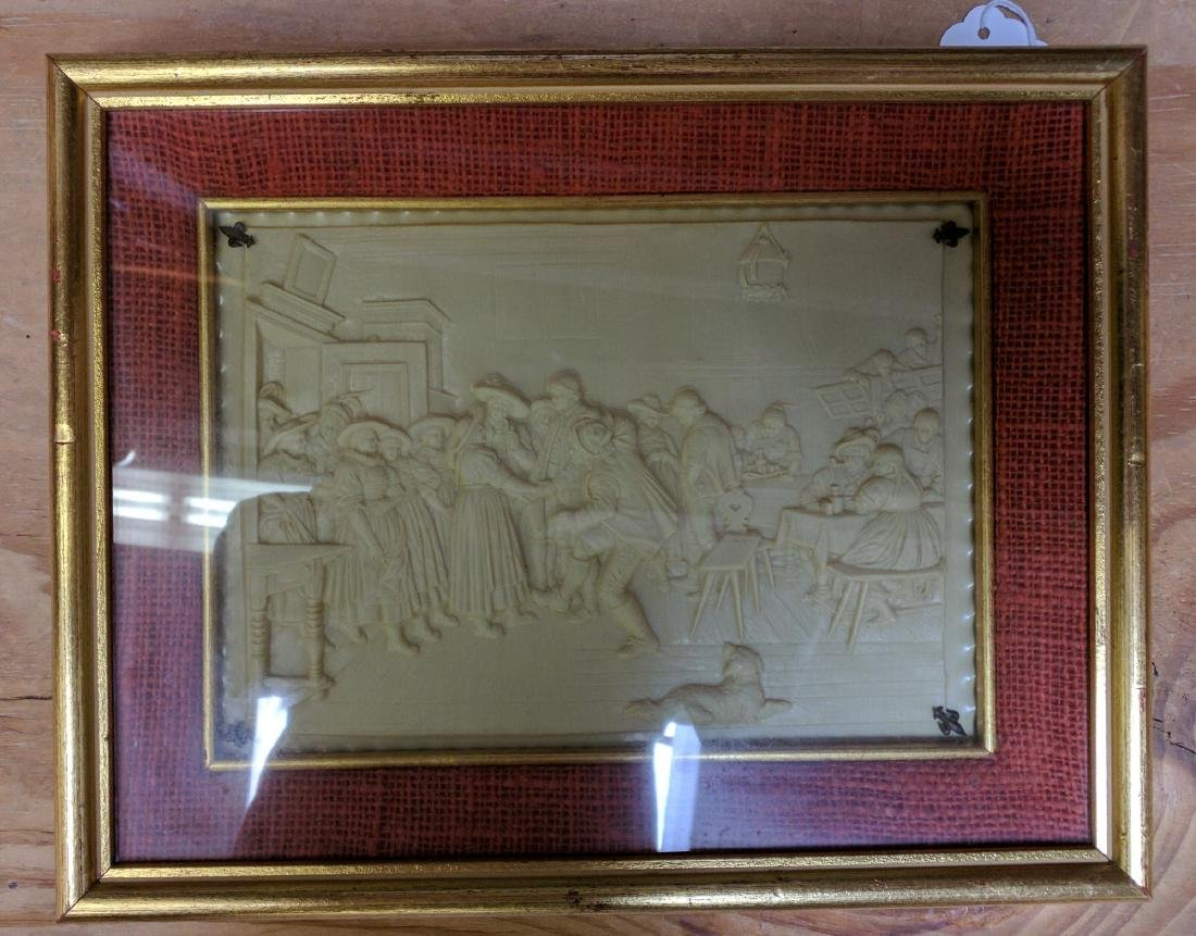19th Century French Imitation of Bisque Panel.