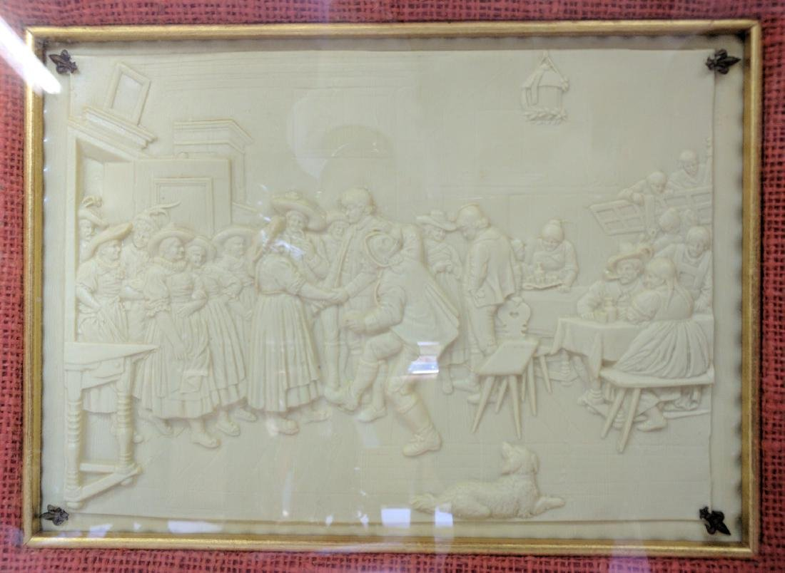 19th Century French Imitation of Bisque Panel. - 2