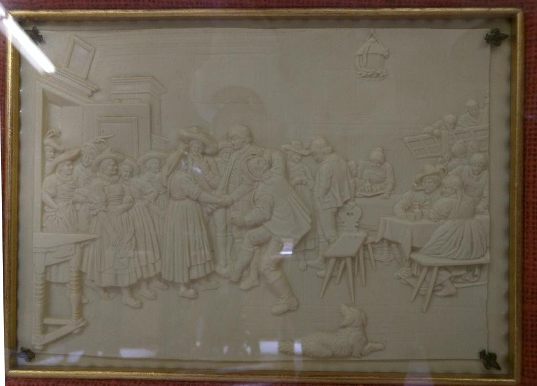 19th Century French Imitation of Bisque Panel. - 3