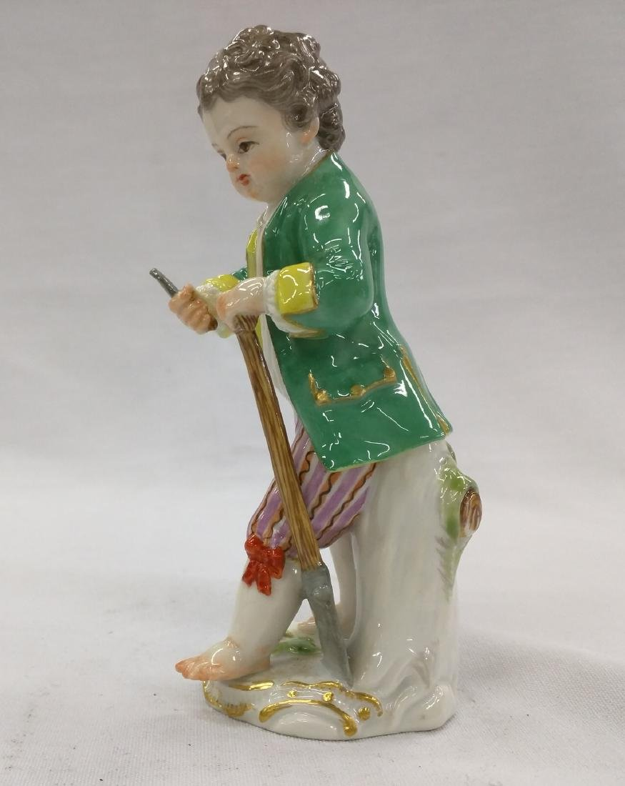 MEISSEN PORCELAIN FIGURINE OF A BOY - 3