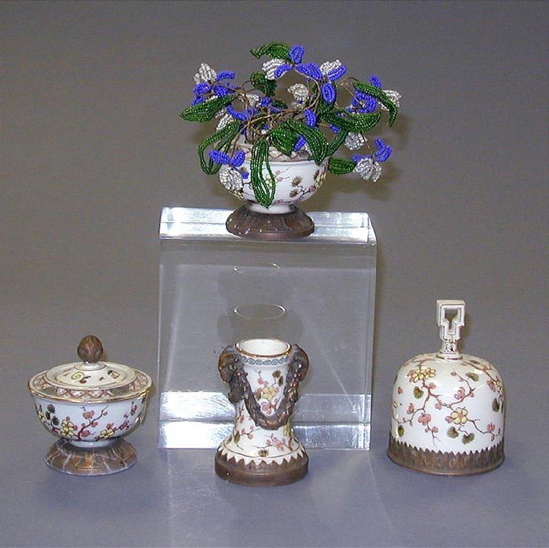 Probably French Porcelain 7-Piece Desk Set - 4