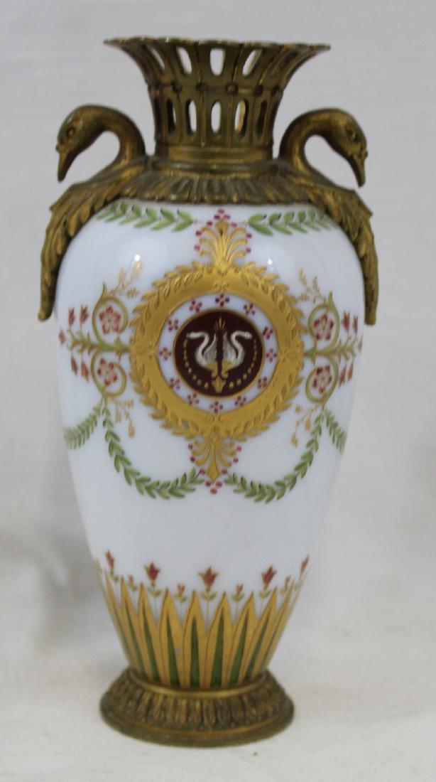 Russian Bronze, Enameled Porcelain Cabinet Vase
