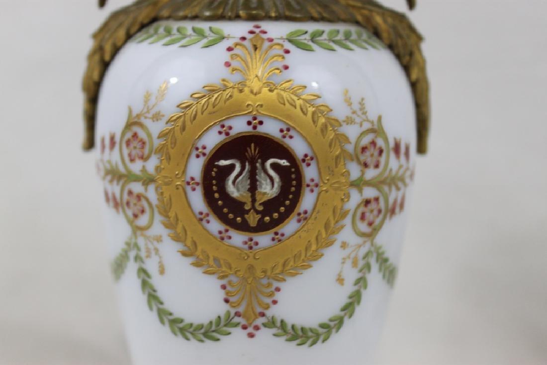 Russian Bronze, Enameled Porcelain Cabinet Vase - 2