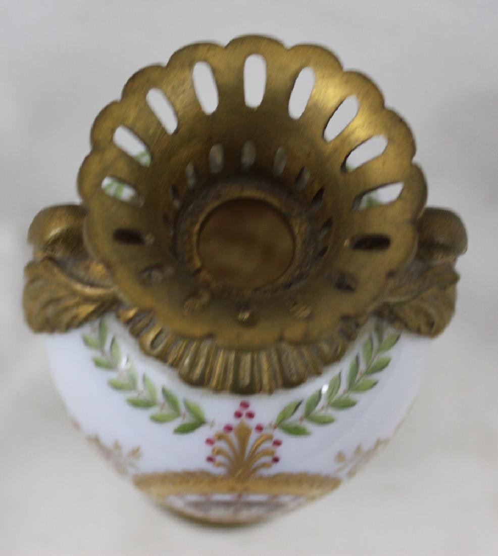 Russian Bronze, Enameled Porcelain Cabinet Vase - 3