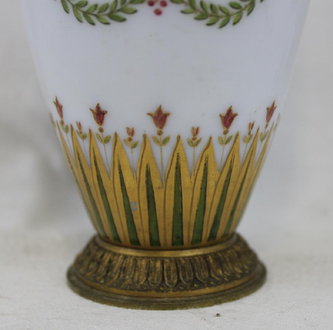 Russian Bronze, Enameled Porcelain Cabinet Vase - 5