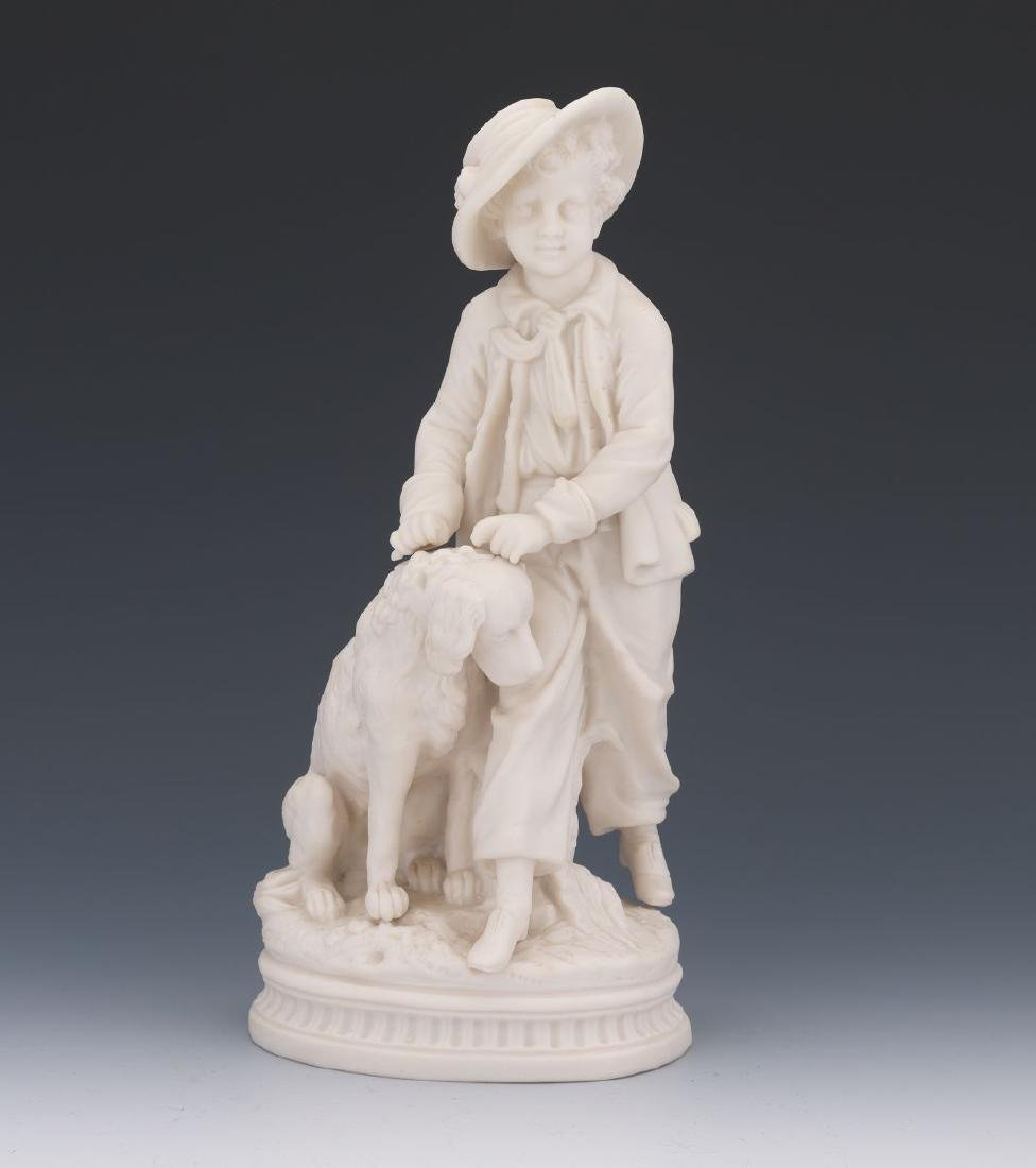A French 19 century Sevres White Parisian Figure of a