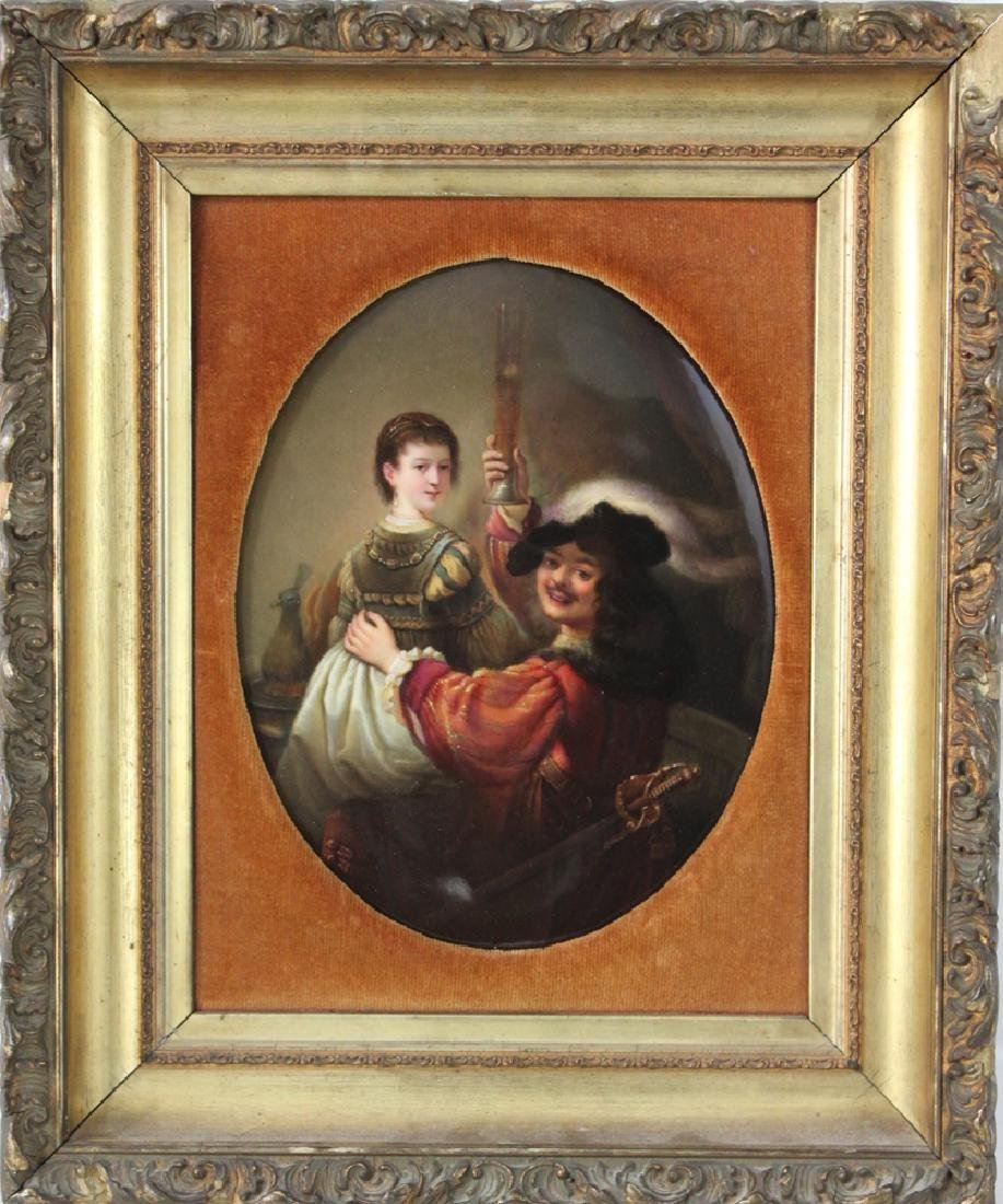 A Berlin (K.P.M.) Oval Porcelain Plaque