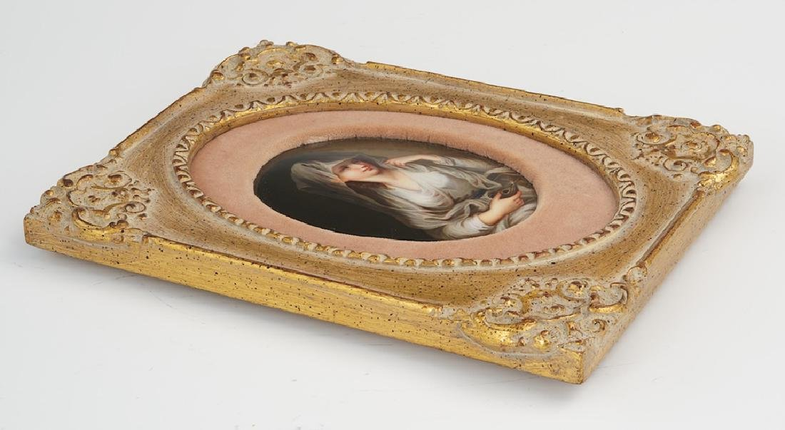 19 Century German Hand Painted Porcelain Plaque of the - 4