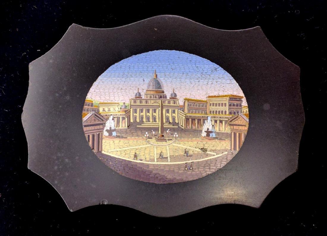 Italian Grand Tour Souvenir Micromosaic Paperweight