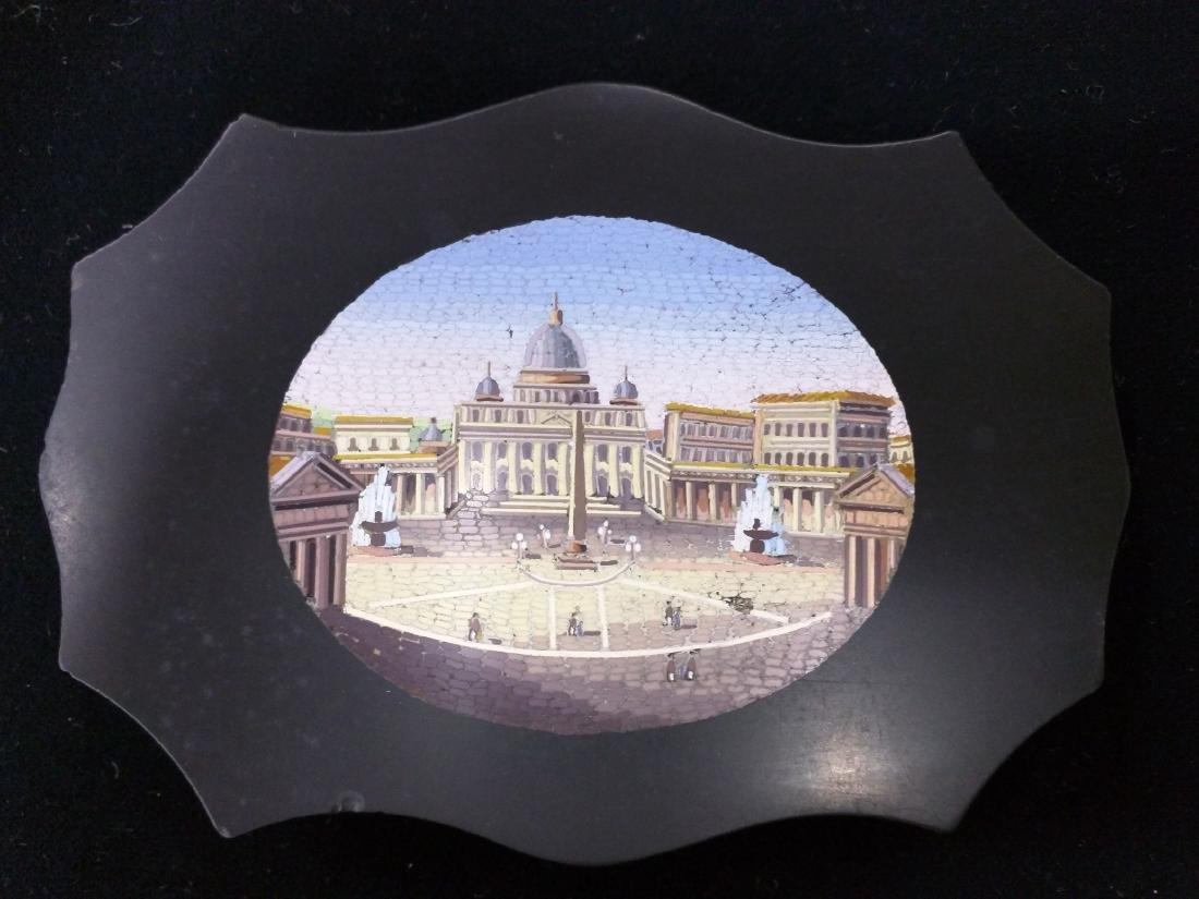 Italian Grand Tour Souvenir Micromosaic Paperweight - 2