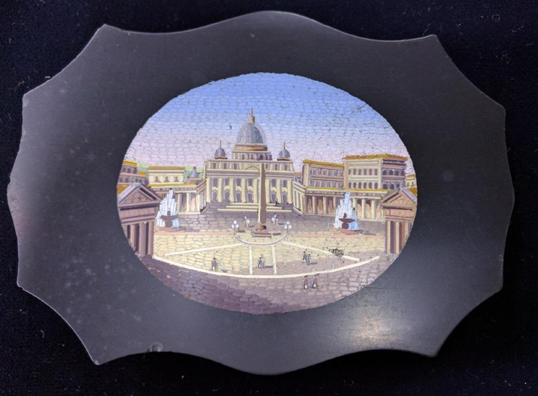 Italian Grand Tour Souvenir Micromosaic Paperweight - 3