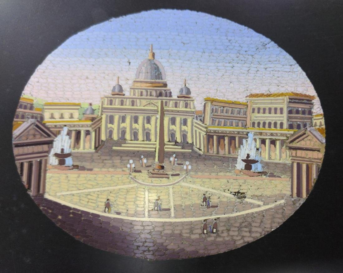Italian Grand Tour Souvenir Micromosaic Paperweight - 5