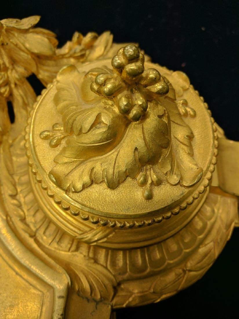 French Gilt Bronze Inkwell Stamped & Signed - 4